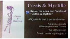 Cassis et Myrtille